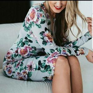 Zara Floral Body Con